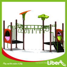 New Landed PE Board Roof Children Plastic Outdoor Playsets with EN1176 Playground Standard in High Quality (LE.QJ.011)